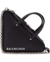Balenciaga - Xs Triangle Leather Shoulder Bag - Lyst
