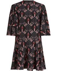 Valentino - Love Blade-print Mini Silk Dress - Lyst