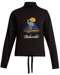 Maharishi - Hanafuda Logo-embroidered Cotton Sweatshirt - Lyst