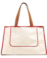 CONNOLLY - 1945 Leather-trimmed Canvas Tote - Lyst