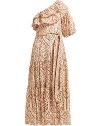 Lisa Marie Fernandez - Arden Ruffled One Shoulder Cotton Dress - Lyst