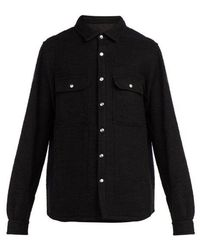 Rick Owens - Boiled Wool Overshirt - Lyst