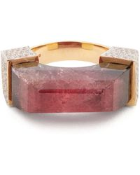 Jade Jagger - Diamond, Tourmaline & Yellow-gold Ring - Lyst