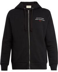 Gucci - Invite-print Hooded Cotton Sweatshirt - Lyst