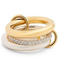 Spinelli Kilcollin | Libra Diamond, Silver & Yellow-gold Ring | Lyst