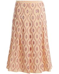 Marni - Embroidered-eyelet A-line Midi Skirt - Lyst