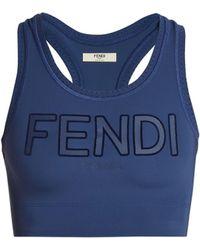 Fendi - Roma Logo Sports Bra - Lyst