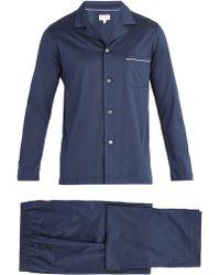 Derek Rose - Bari Modern Fit Cotton Pyjama Set - Lyst