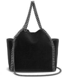 Stella McCartney - Falabella Mini Velvet Reversible Cross Body Bag - Lyst