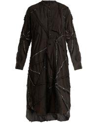 By Walid | Contrast-stitch Cotton Dress | Lyst