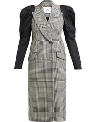 Erdem - Albert Double-breasted Polka-dot And Prince Of Wales Checked Cotton-blend Coat - Lyst