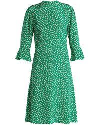 HVN - Ashley Floral Print Silk Dress - Lyst