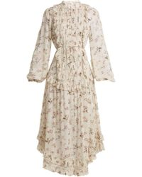 Zimmermann - Whitewash Pintuck Dress - Lyst