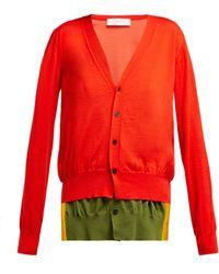 Toga - Layered Wool Blend Cardigan - Lyst