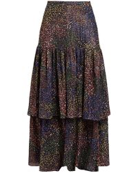 Chloé - Abstract-print Voile Maxi Skirt - Lyst