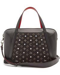 Christian Louboutin | Bagdamon Spike-embellished Leather Holdall | Lyst