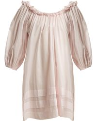 Three Graces London - Esther Balloon-sleeved Cotton Nightdress - Lyst