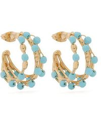 Rosantica By Michela Panero - Angola Small Bead-embellished Hoop Earrings - Lyst