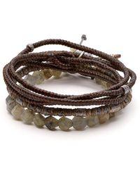 M. Cohen The Create Stack Ii Bead Embellished Bracelet - Gray