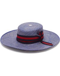 Sensi Studio - Trinado Ribbon Trim Straw Boater Hat - Lyst