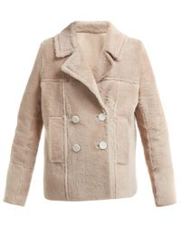 Yves Salomon - Shearling Double Breasted Jacket - Lyst