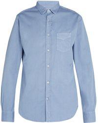 Officine Generale - Lipp Stitch Pigment-dyed Cotton-twill Shirt - Lyst