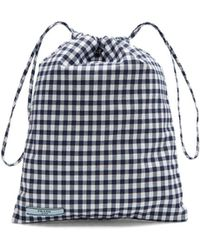 Prada - Gingham Drawstring Wash Bag - Lyst