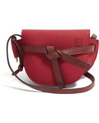 Loewe - Gate Mini Grained Leather Cross Body Bag - Lyst