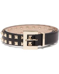 Valentino - Rockstud Double Row Leather Belt - Lyst