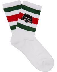 Gucci - Skull Stripe Sport Socks - Lyst