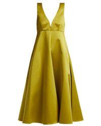 Rochas - Duchess-satin Midi Dress - Lyst