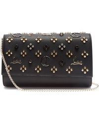 Christian Louboutin   Paloma Embellished Leather Clutch   Lyst