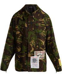 Martine Rose - Camouflage Cotton-blend Jacket - Lyst
