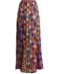 Mary Katrantzou | Nyx Pleated Crepe Maxi Skirt | Lyst