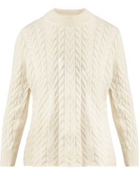 Ryan Roche - Cable-knit Cashmere Sweater - Lyst