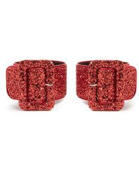 Attico - - Glitter Embellished Ankle Straps - Womens - Red - Lyst
