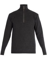 Barena - Half-zip Ribbed-knit Wool Jumper - Lyst