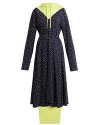Vetements - Hooded Contrast-panel Emoji-print Dress - Lyst