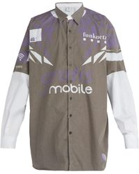 Vetements - Mobile Print Cotton Shirt - Lyst