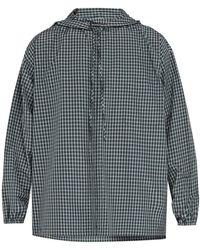 21e351d7 Balenciaga - Checked Hooded Zip Through Shirt - Lyst