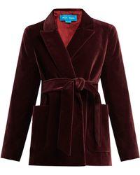 M.i.h Jeans - Robin Tie Waist Velvet Blazer - Lyst