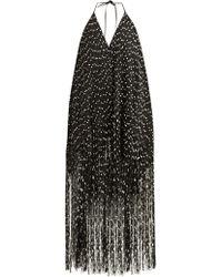 Jacquemus Riviera Fringed Polka Dot Mini Dress