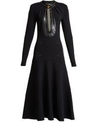 Proenza Schouler - Robe à fente goutte d'eau et bords en cuir - Lyst