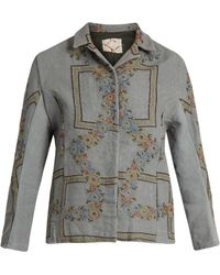 By Walid | Haya Embroidered Linen Jacket | Lyst