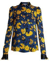 Altuzarra - Marlowe Floral-jacquard Blouse - Lyst