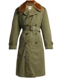 MYAR - Double-breasted Wool-blend Gabardine Coat - Lyst