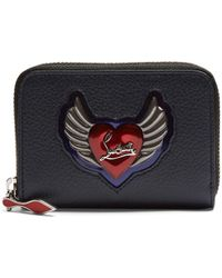 Christian Louboutin - Panettone Heart-embellished Leather Coin Purse - Lyst