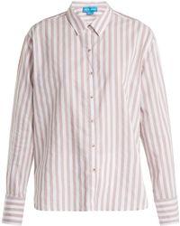 M.i.h Jeans - Mini Striped Cotton Shirt - Lyst
