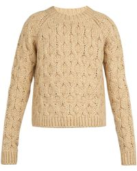 Acne Studios - Cable Knit Sweater - Lyst