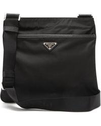 Prada Logo Messenger Bag